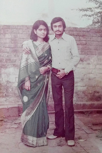 Old wedding photo of Rashmi's parents.